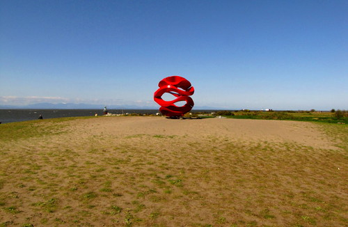 Garry Point Park public art at a distance