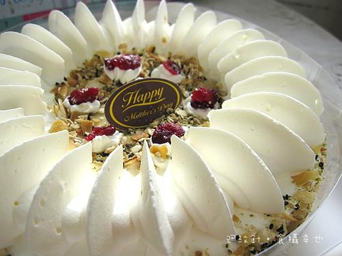 統一燕麥穀奶蛋糕表面
