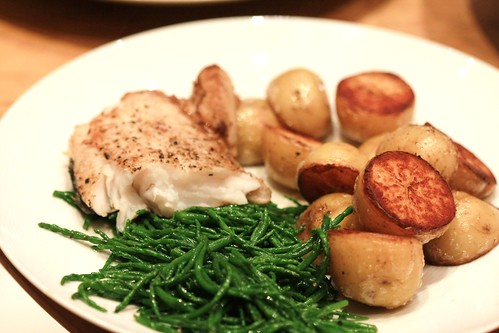 Hake and Samphire by ChodHound, on Flickr