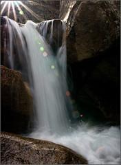 Sunflares and Waterfalls (RondaKimbrow) Tags: colorado sunflare coloradolandscape anawesomeshot northcheyennecanyon coloradophotography coloradowaterfall pullfolio norhcheyennecreek