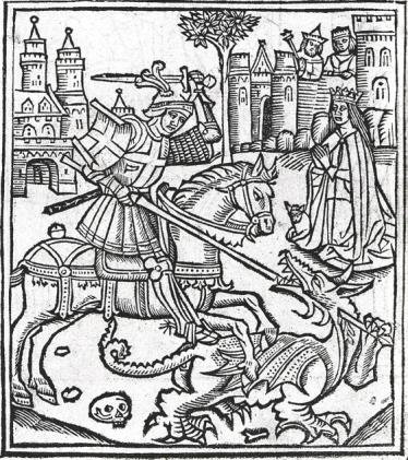 St Georg Woodcut, 1515