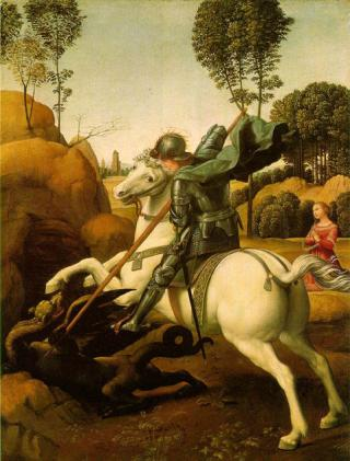 St. George and the Dragon, Raphael, c 1505