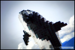 Pixel The Whale (Clayton Perry Photoworks) Tags: blue sky sculpture canada art public statue vancouver clouds canon downtown bc lego britishcolumbia pixel whale orca hdr douglascoupland jackpooleplaza digitalorca pixelthewhale