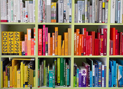 The Colorful Library of an Interaction Designer (Juhan Sonin) / 20100423.7D.05887.P1 / SML (See-ming Lee  SML) Tags: inspiration boston photography book design colorful fav50 library books shelf interactiondesign 2010 ixd 201004 sml canon2470f28l fav10 fav25 fav100 ccbysa seeminglee juhansonin life20 crazyisgood  smlflickr canon7d smlphotography flickrstats:views=10000 flickrstats:views=5000 flickrstats:galleries=1
