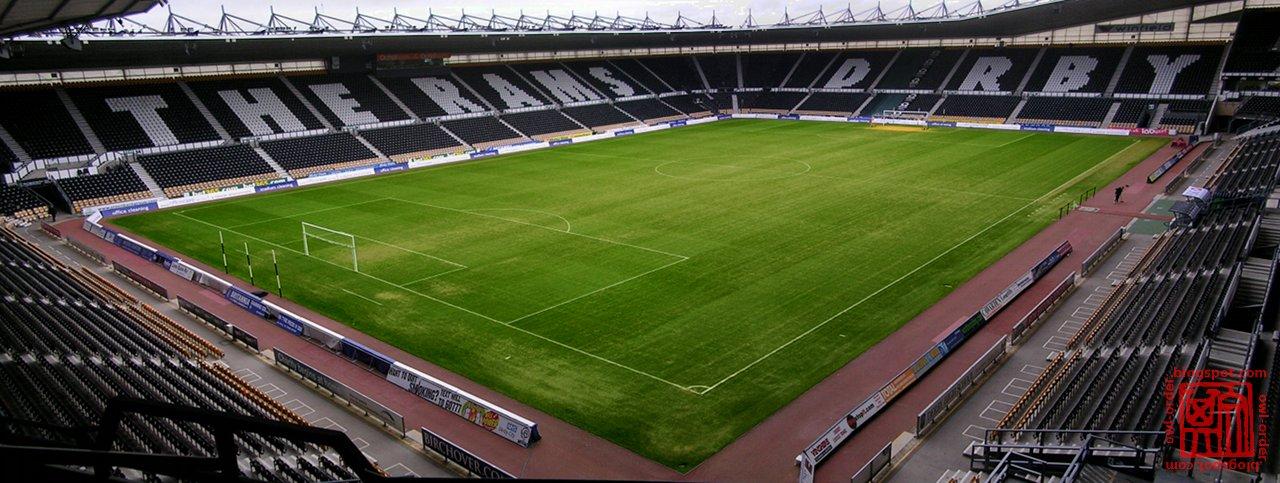 Pride Park Stadium Field