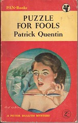 Puzzle for Fools - Pan book cover (Covers etc) Tags: girl illustration design knife paperback crime cover 1950s murder pan bookcover thriller