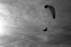 Sliding Down (losvizzero) Tags: winter sky clouds switzerland flying air jet slide diagonal trail be gliding paraglider ch chteaudoex