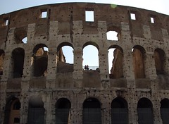 Colosseum Exterior with Couple