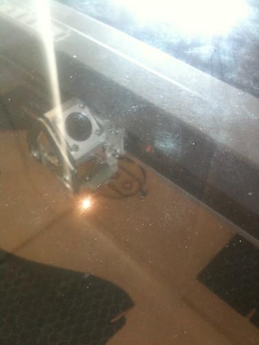 Epilog laser system - cutting shock mount