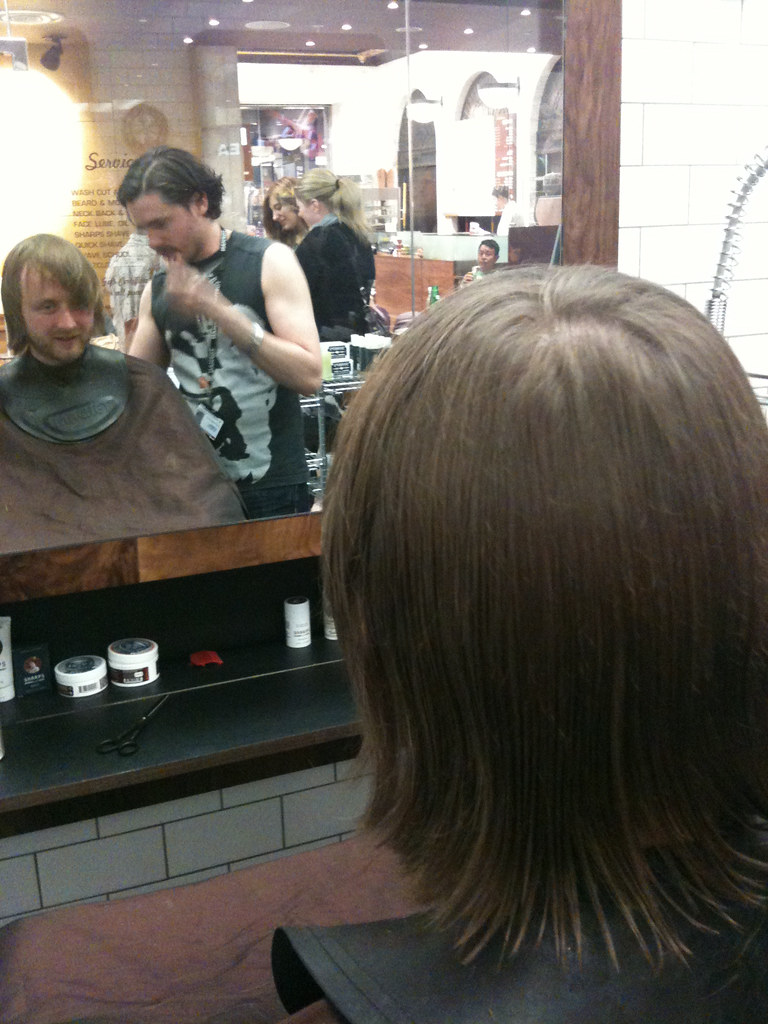 Matt from The Rumble Strips having his hair cut