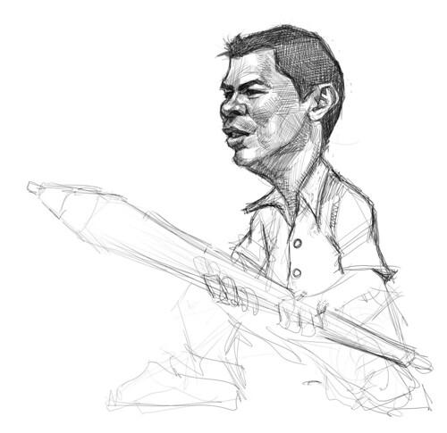 digital sketch of Mecho - 3