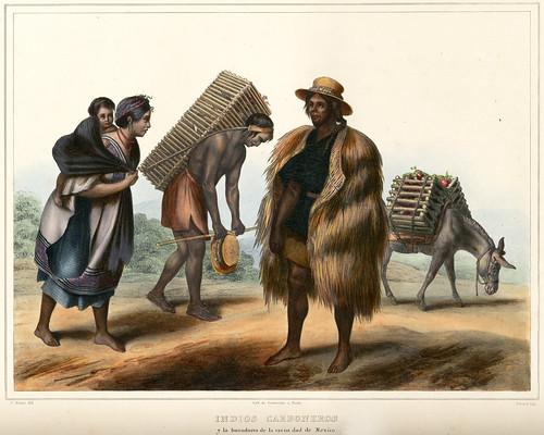 017-Indios Carboneros-Voyage pittoresque et archéologique dans la partie la plus intéressante du Mexique1836-Carl Nebel