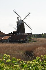 Cley windmill from the coastal defenses