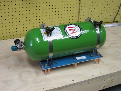 Oxygen Tank Test Mounted to Platform