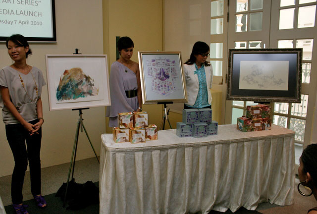 The three artists showcasing their work