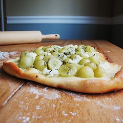 Grapes, Rosemary, Chevre (k.deanne) Tags: food recipe blog pizza rosemary grape chevre
