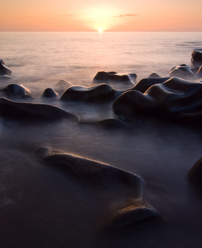 Rock Formations at Sunset by Nick Landells