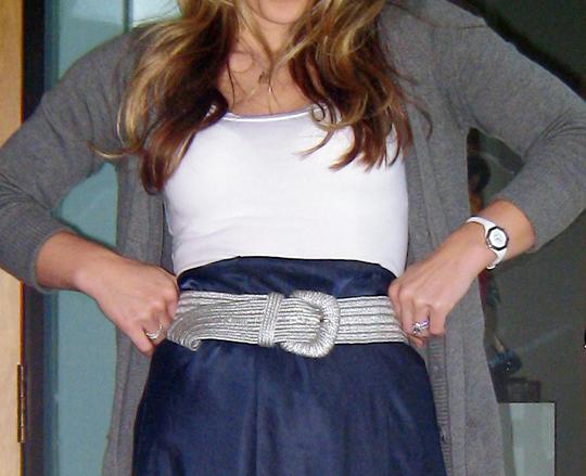 belted slip gray