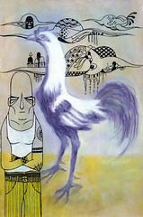 Lutador (.  F L F  .) Tags: birds arte cock nuvens arrow ilustrao galo lutador franciscofreitas