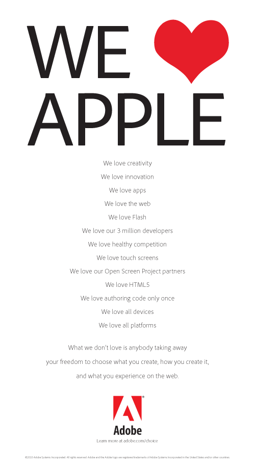 Adobe's Apple ad
