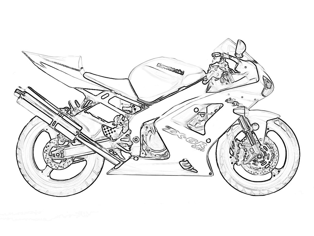 Zx6r Outline For Coloring Kawiforums Kawasaki
