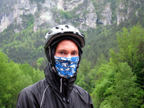 Sad, Rainy Justin in Gorges Du Tarn