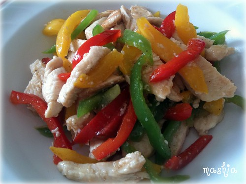 Chicken with Coloful Peppers