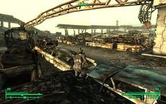 Scrapyard (Jamiecat *) Tags: auto dog 3 post videogame junkyard scrapyard f3 casse wasteland fallout apoc canigou