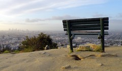 The God Chair (Mark Luethi) Tags: bench losangeles chair view runyoncanyon laskyline
