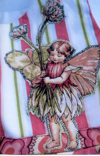 Fairy applique on bodice