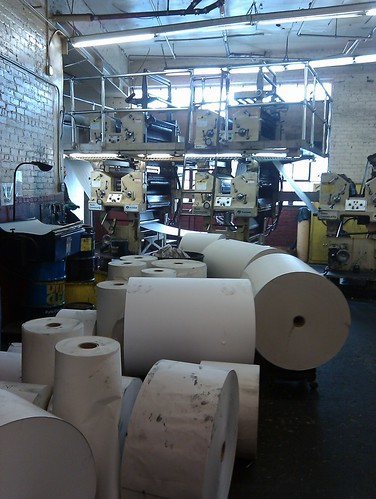 newsprint rolls