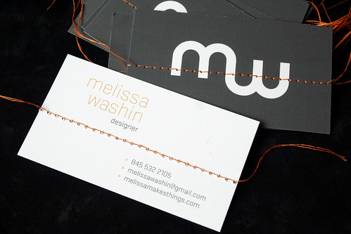 Melissa loves life sewn business cards sewn business cards colourmoves
