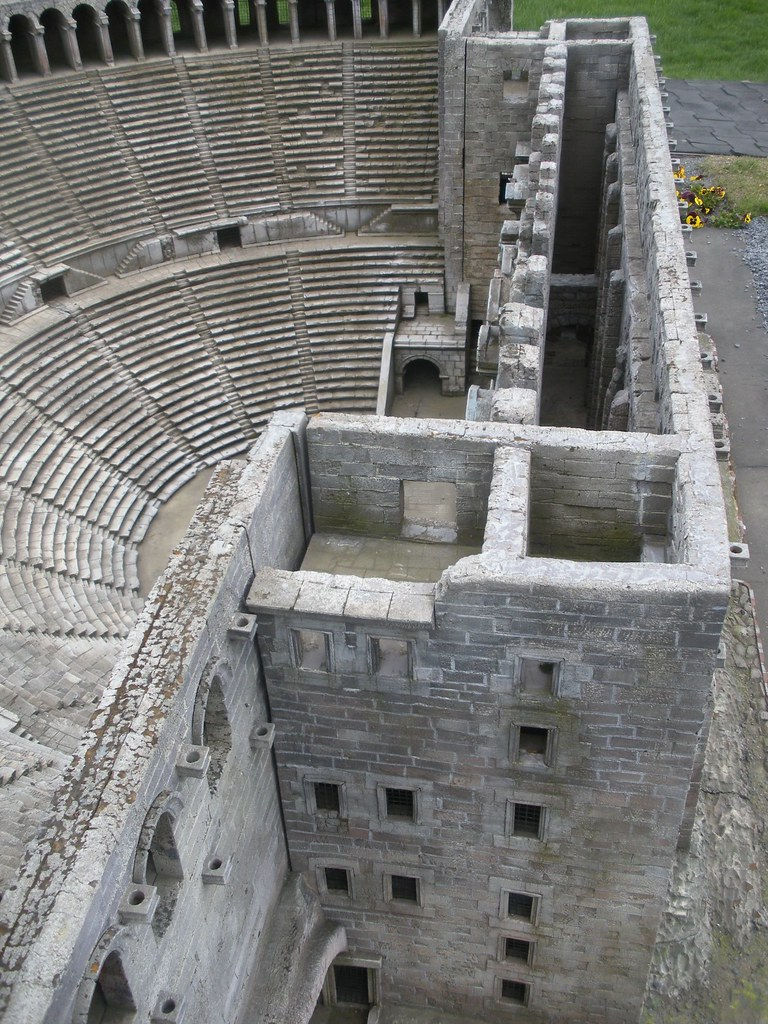 model of  Aspendos Ampitheater, 2nd C