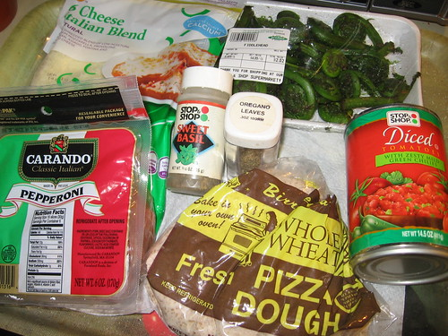 6-cheese pepperoni bacon fiddlehead pizza ingredients