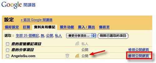 Google Reader設定