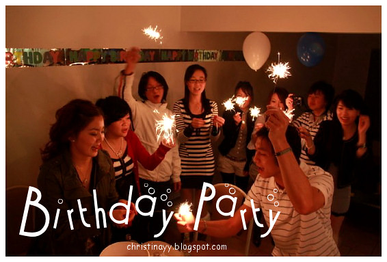 Birthday Party: Two Girls and A Guy
