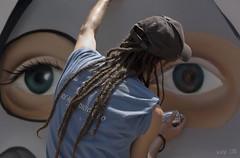 Entre dos ojos... (kinojam) Tags: canon graffiti kino grafiti zaragoza pintada arteurbano grafitero canon450 fzfave kinojam luchacontraeltabaco tupintasmuchocontraeltabaco retofez100720