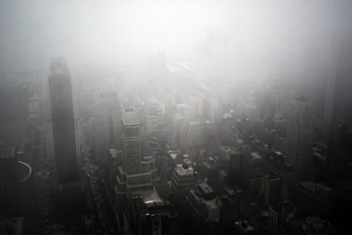 Carolin Weinkopf, New York, Fog, Skyline