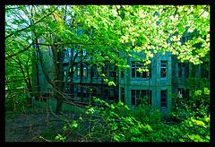 Tuberculosis Pavilions-Exterior (Sebastian T.) Tags: abandoned hospital ruins closed urbandecay medical forgotten urbanexploration sanatorium derelict deserted abandonment decayed dilapidated abandonedbuildings sanitarium modernruins
