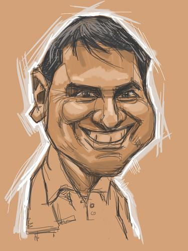 Digital caricature of caricaturist Raúl Curbelo Belén - 2
