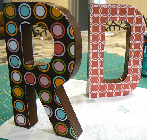 Decoupaged Initials