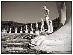 The Giant (paolopenna) Tags: travel portrait bw italy holiday rome roma monochrome giant blackwhite nikon italia fighter body stadium monuments statua stadiodeimarmi ritratto monumenti d3 stadio 2470 combattente nikond3 afs2470