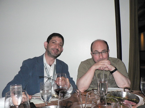 Marc Smith and Craig Newmark at PDF2010 dinner