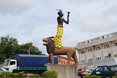 Lion Statue - Kumasi, Ghana (slkhan) Tags: africa street travel urban statue place wanderlust adventure ghana developingcountry worldtravel globalsouth