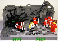 Frabjous Day (Bart De Dobbelaer) Tags: red day lego alice queen atlantis wonderland vignette jabberwocky frabjous clumsypete