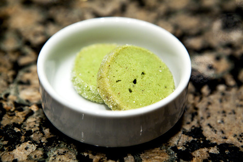 Green tea sablés