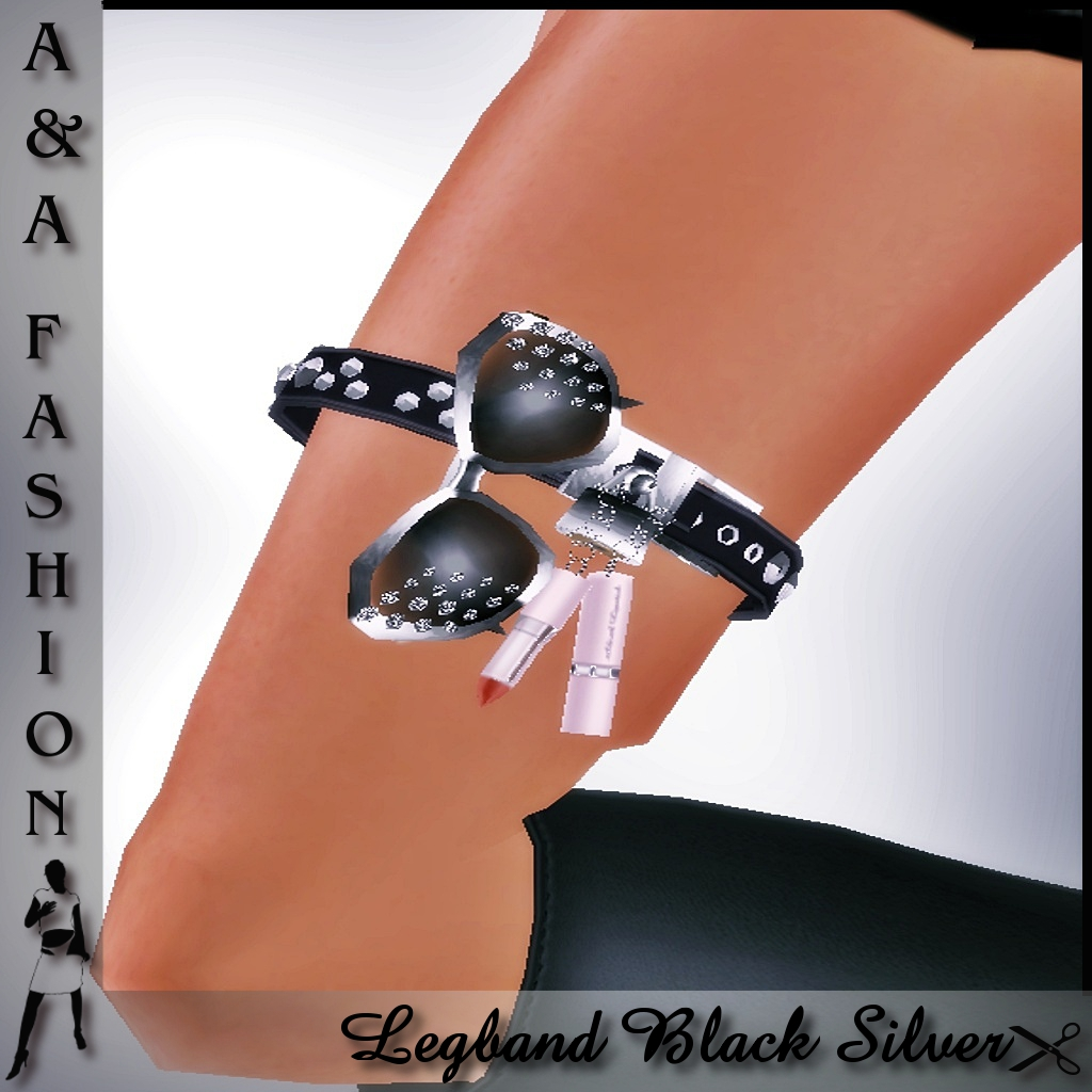 A&A Fashion Legband Black Silver