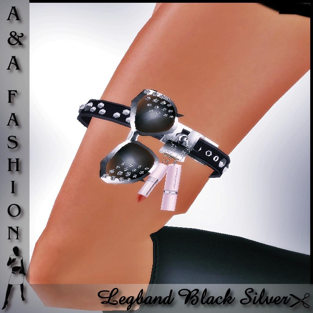 A&A Fashion Legband Black Silver