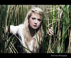 Serious Face Sarah (Paul Fessey) Tags: girl grass umbrella paul photography 50mm nikon jungle blonde reflective tall marsh nikkor 18 speedlight wirral d300 sb800 parkgate strobist fessey