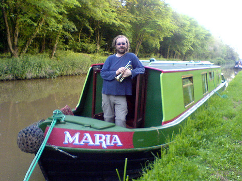 Me on a boat